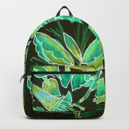 Irish Garden, Lime Green Flowers Dance in Joy Backpack