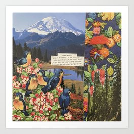 Nature Lover Collage Art Print