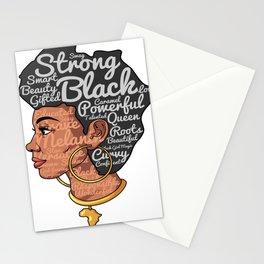 Melanin Afro Motivation Woman Stationery Cards