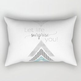 GRAPHIC ART Let life surprise you | mint Rectangular Pillow