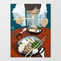ramen Canvas Prints featuring Ramen by Noah MacMillan