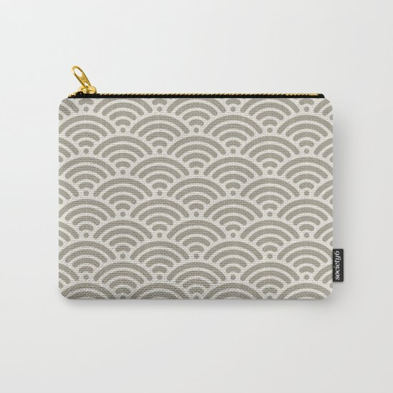 Wave Alabaster Blue Gray Carry-All Pouch