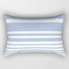 Scandi Pastel Cornflower Stripes Rectangular Pillow