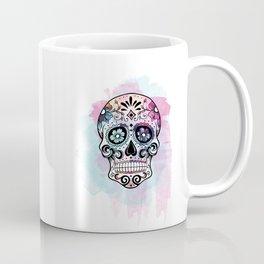 Watercolor Sugar Skull Coffee Mug