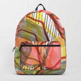 Coral Abstract  Backpack