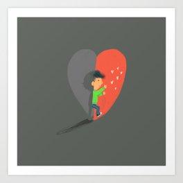Boy in Love #4 Art Print