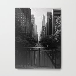 A perfect New York City stroll Metal Print