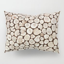 Background of wooden slices tree Pillow Sham