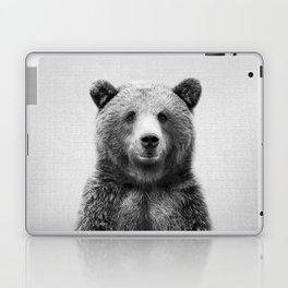 Grizzly Bear - Black & White Laptop & iPad Skin