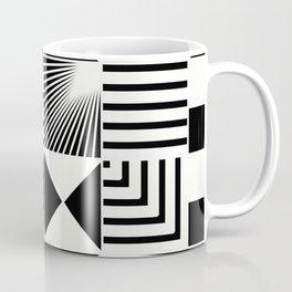 Mosaic Black And White Pattern Coffee Mug