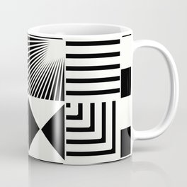 Mosaic Black And White Pattern Coffee Mug
