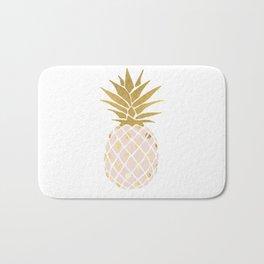 pink & gold pineapple Bath Mat