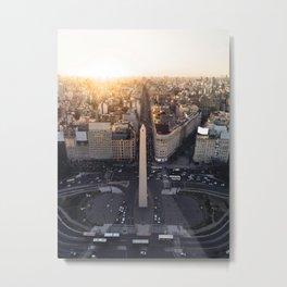 Avenida Corrientes Metal Print