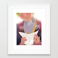 little prince Framed Art Prints featuring little prince by zebeck