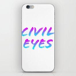 Civil Eyes (color) iPhone Skin