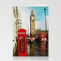 england Stationery Cards featuring London, England by Abby Gracey