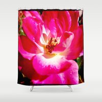 zappa Shower Curtains featuring flower by Diva Zappa