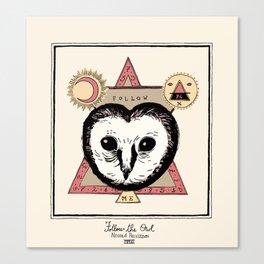 Follow the Owl Canvas Print