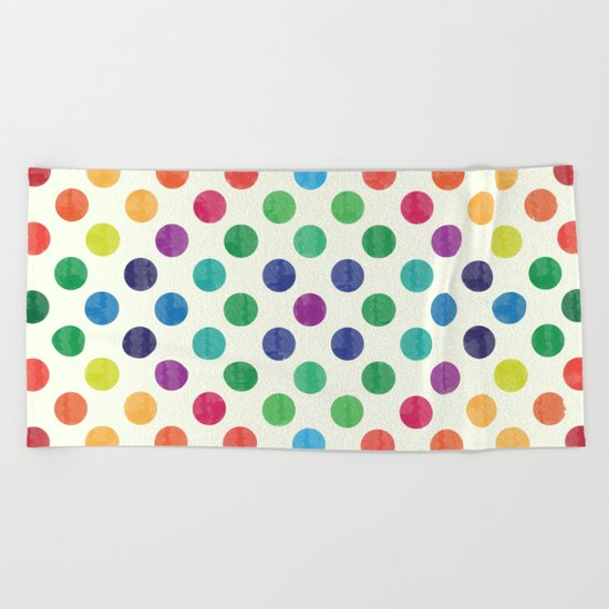 Lovely Dots Pattern III Beach Towel