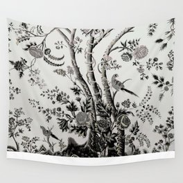 Peacock Tree Natural Wall Tapestry