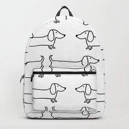 Dachshund in black-white Backpack