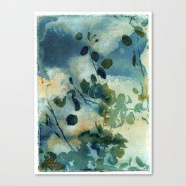 Abstract Shadows Cyanotype Canvas Print