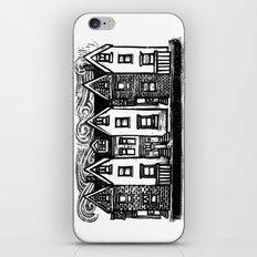 Row Houses - Linocut iPhone Skin