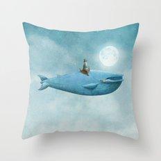 Whale Rider  Throw Pillow