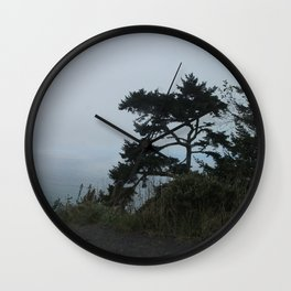 Foggy Oregon Coast, Grey Ocean Wall Clock