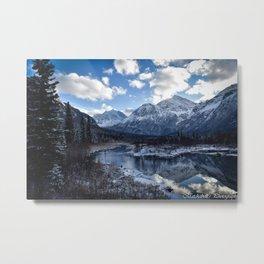 The mountain's reflection Metal Print