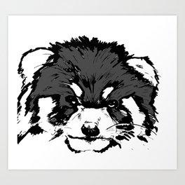 Red Panda Parry Art Print