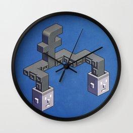The powerful tentacles of Facebook — pixel art Wall Clock