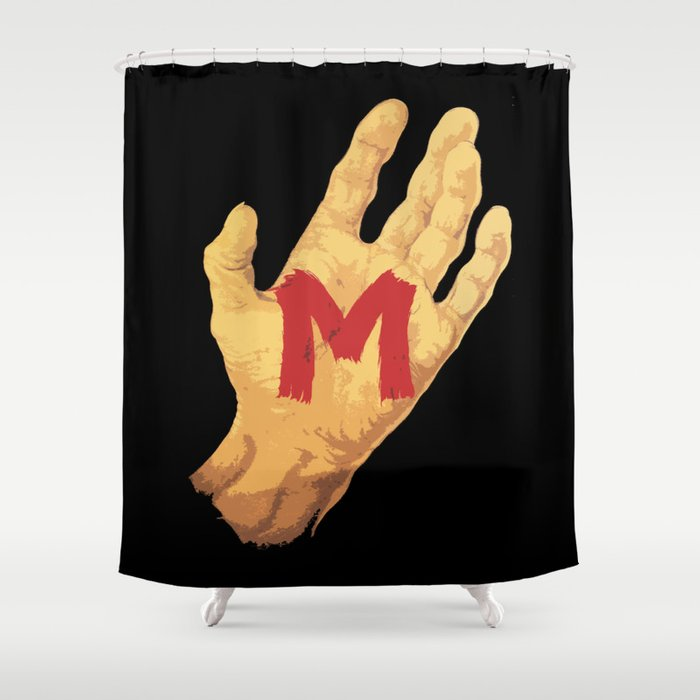 The Hand And Murderer Shower Curtain