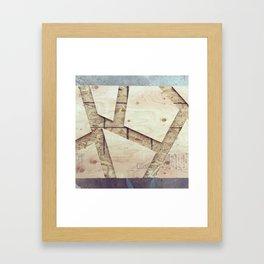Geometric Wood Framed Art Print