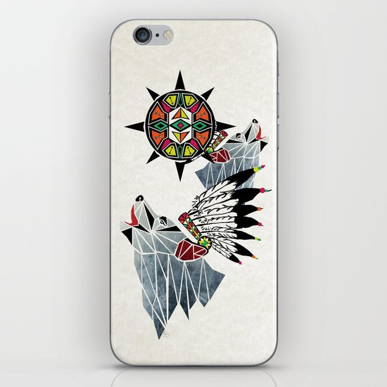 wolf king iPhone & iPod Skin