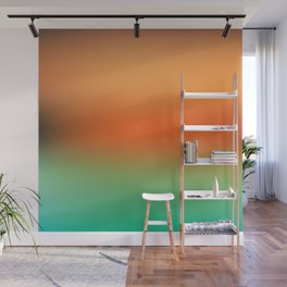 Orange Gradient Wall Mural