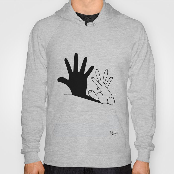 Rabbit Hand Shadow Hoody