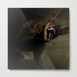 Dogs with game face on 666. Metal Print