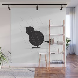 Chick in the Rain Wall Mural