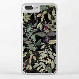 Drawing Nature in Dark Clear iPhone Case