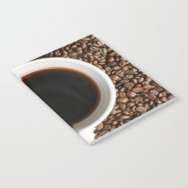 Coffee Mug and Beans Notebook