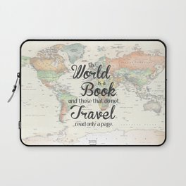 World is a Book Laptop Sleeve