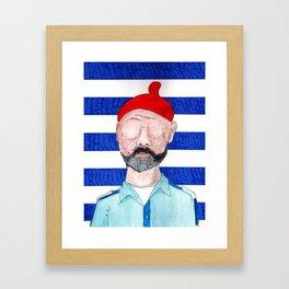 Captain Zissou Framed Art Print