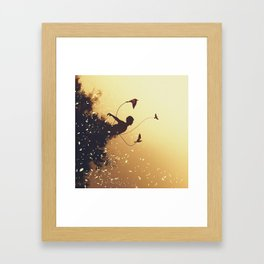 Letting Go of My Roots Framed Art Print