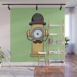 Dapper Hydrant Wall Mural