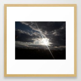 The Heavenly Sun Hiding Framed Art Print