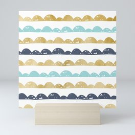 Golden Pastel Clouds Mini Art Print