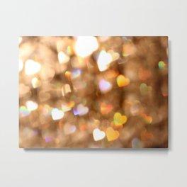 Heart Glitter Metal Print