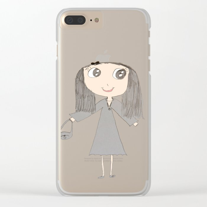 Greyzoolina | Kids Painting by Elisavet Clear iPhone Case
