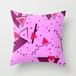 Pink Error Throw Pillow